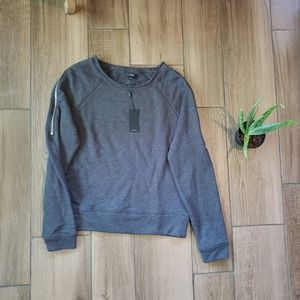 Joe's Jean's gray zipper crew sweatshirt S